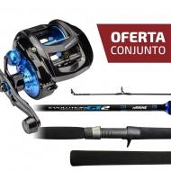 CONJUNTO CARRETILHA TITAN 400SW  + VARA EVOLUTION GT2 CAR-C601H