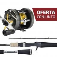 CONJUNTO CARRETILHA MAGNA 500 + VARA LUBINA LUX-C602MH